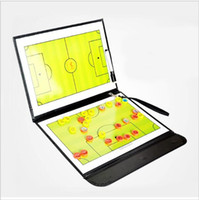 dry erase board - Folding Magnetic Football Coaching Board Soccer Coach tactics book set with Pen Dry Erase Clipboard Teaching equimpment hight quality free s