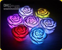Wholesale 100pc LED rose lamp color flash tea light Romantic Light lamp LED Rose Flower Candle lights
