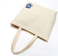 bad bags - NEW Promotional Customized Recyclable Natural Cotton Bags ECO Tote Handle Canvas Bag Eco friendly bad shopping bag