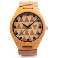 bands cowhides - 3 CM CM Watches Bamboo Wooden Wristwatch With Genuine Cowhide Leather Band Lovers Luxury Wood Watches B010 For Men and Women