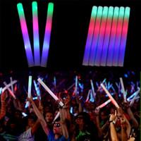 Wholesale Beautiful Design Light Up Multi Color LED Foam Stick Wands Rally Rave Cheer Batons Party Flashing Glow Stick Light Sticks