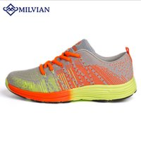 Wholesale milvian shoes two colors outdoor sport jogging shoes women s Mesh sports shoes hard wearing gym and cycling casual shoes