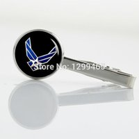 air force tie - US Air Force Silver plated Tie Clip Exquisite air force navy logo Men Necktie Tie Bar Novelty Interesting Tie pin T