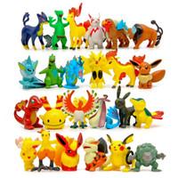 venda por atacado brinquedos mini-Puxão Figuras de Ação Multicolor cerca de 6cm / 2inch mini-cartoon crianças brinquedos DIY Pikachu Modelo Decoração DHL C1120