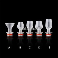 acrylic wine glasses - Wine Glass Style Acrylic Drip Tips EGO Transparent wide bore Drip Tips Mouthpiece fo Threading Electronic Cigarette Cup Drip Tips