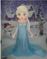 al por mayor vestido xl precio barato-Tamaño traje de la mascota nueva princesa Elsa azul de la mascarada congelado adulto Fiesta de disfraces buena calidad y precio barato directo de fábrica de la nave libre
