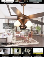 antique ceiling fans with lights - New Chinese ceiling fan light continental antique living room fan light ceiling lights fan American fans with remote control