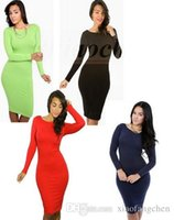 bag cocktail dresses - Lady Bag Hip Office OL Dress Fashion Tunic Pencil Dress Skirt Bodycon Dress Slim Evening Party Dress Business Cocktail Casual Dress A913