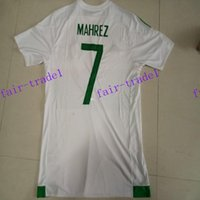 algeria soccer tops - design custom thai quality algeria home mahrez soccer jerseys men personalized football jersey shirts top soccer wear tops