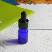 Wholesale 5ml blue Glass bottle with Dropper Aumina cap glass dropper Bottle for Essential oil Aroma Cosmetic so on