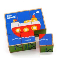 Wholesale New arrival Montessori educational wooden toy early learning teaching toy colors and shapes cognition a set