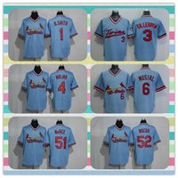 Wholesale New Product Men s St Louis Cardinals Baseball Jersey Ozzie Smith Killebrew Yadier Molina Light Blue Throwback Jerseys