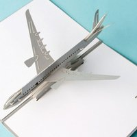 airplane invitations - 10pcs Laser Cut Invitations Handmade D Cubic Airplane Kids Birthday Greeting Cards