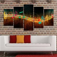 abstract music paintings - Unframed Painting on Canvas Abstract Music Notation Pictures Home Decor Panel Wall Art Paintings Unframed