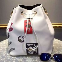 Wholesale New product bucket package printing bag cow leather bag style is absolutely the most love