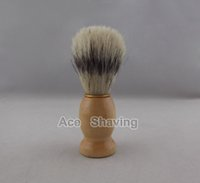 Wholesale 30 Pieces of Faux Badger Color Boar Bristle Hair Wooden Handle Shaving Brush