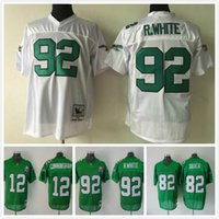 Wholesale Eagles Mike Quick Randall Cunningham Reggie White Throwback Men Football Jerseys Replica M XXXL Welcome Mix Orders