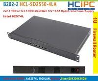 Wholesale HCiPC B202 HCL SD2550 LA D2550 L intel LAN U Firewall BareBone