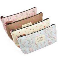 Wholesale Leegoal Canvas Pen Bag Pencil Case Brand New Different Colors set of