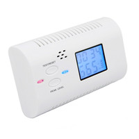 Wholesale Battery Operated CO Carbon Monoxide Detector Alarm Sensor Smart Digital Human Voice Warning LCD Display gas Detector Clock