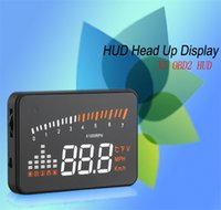 Wholesale X5 inch Universal Car HUD Head Up Display OBD II interface for Universal Car alarm security system