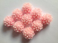 Wholesale 20pcs pale pink Resin Chrysanthemum Mum Flower Resin Cabochon for Bobby Pins or Rings mm