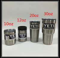 Wholesale Yeti Tumbler Cup oz oz oz oz Stainless Steel Beer Mug Insulation Cup Bilayer Stainless Steel Tumbler Mug DHL Shipping