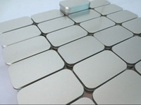 Wholesale 200 Silver Tin storage box Metal organizer box for Zakka Cigarette case Casket Zakka Novelty