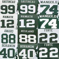 american marking - Jace Amaro Jersey Joe Namath Mark Gastineau Matt Forte Nick Mangold Tommy Bohanon American Football Jerseys Elite