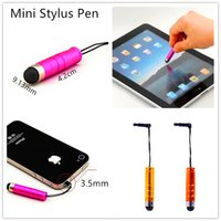 baseball pen - Mini Stylus Touch Screen Pen Capacitive Baseball Touch Pen With Anti Dust Plug For ipad iphone Samsung Tablet PC Cellphone
