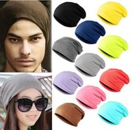 beach outings - 2016 fashion hat Skull Cap for woman and man for outing excursion Top Quality Solid Color Hip hop Slouch OUT003