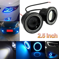 angle halo - a pair of quot W COB LED Fog Light Projector Car driving bulbs Ice Blue Halo Angle Eyes Ring Bulb CLT_30A