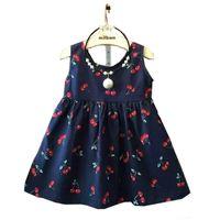 baby teenager - Baby Girl Dress Summer Kids Teenagers Sleeveless Print Pattern Cotton Dresses Clothes For Girls Children Toddler vestidos