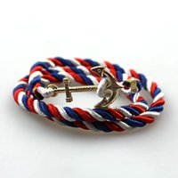 anchor chain length - Fashion Vintage Style Colors CM length Weave Unisex Friendship Bracelet Summer Anchors Bracelets