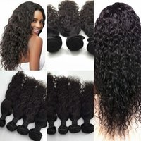 Wholesale Peruvian Indian Malaysian Mongolian Brazilian Water Wave Hair Weave Bundles Cheap Human Hair Extensions Natural Color Black