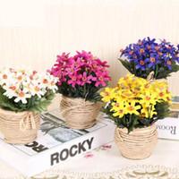 art item silks - 2015 New Item a Set Artificial Flower With Vase Silk Flowers For Wedding Home Garden Decoration Floral Art cm height