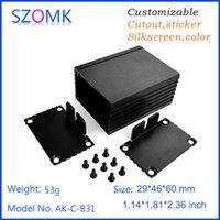 amplifier cabinet - 10 mm hot selling aluminum electrical enclosure cabinet pcb amplifier box szomk aluminum custom made project case AK C B31