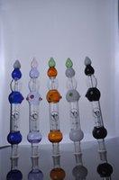 Miel dab paille France-couleur Nectar Collector avec Titanium Nail 2 Honey Paille Concentré Miel Dab Paille Pipe en verre d'eau