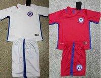 Chile Jersey 2016 2017 Copa Beausejour VALDIVIA Jara VARGAS Alexis equipo nacional de Tailandia camisa de la juventud del fútbol del jersey de fútbol del cabrito del niño