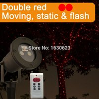 Wholesale Double red fly firefly laser christmas light IP65 waterproof laser projector cristmas decoration remote twinlking xmas lights