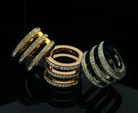 Wholesale Gurantee Titanium Steel brand rings vintage Fashion jewelry department three exquisite M laminated into three titanium