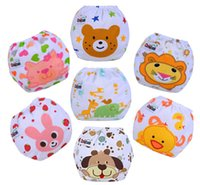 Wholesale Cartoon animals baby cloth diapers waterproof reusable diaper four seasons applicable diaper covers with adjustable nappy fasterner