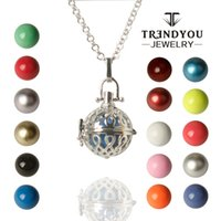 ball and chain brass plate - TRENDYOU Hot Fashion Harmony Bola Ball Jewelry Copper CM Women Jewelry Angel Bell For Women and Baby DEZ16614