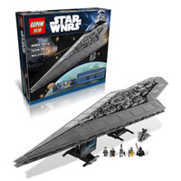 baby building blocks plastic - 3208pcs LEPIN Legoelieds Building Blocks Star Wars Imperial Star Destroyer Model action Minifigures Bricks Kid Baby KIT Toys