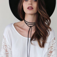 alloy tubes - Statement Chokers Necklaces for Women women Long Black Tube False Long Leather Rope Gold choker Collar Necklace