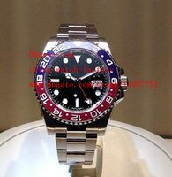 asia gifts - Luxury Christmas Gift Watch Jewelry Blue Luminescent Cerachrom Pepsi BLRO GMT Asia Movement Automatic Mens Watch Watches