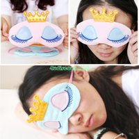 Wholesale Blue Sleeping Aid Mask Eye Shade Plush Blinder Shield Comfort Winker Patches