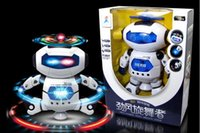 Wholesale Hot dance space robot toy robot toys for children dancing blue size CM Material Plastic plastic can be customized