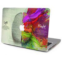 air brain - 10 Patterns Laptop Vinyl Decal Left Right Brain Top Sticker Graffiti Print Cover Wall Painting Skin for Macbook Air Pro Retina