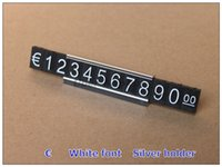 Wholesale Necklace EURO Currency Price Display ABS Plastic Price Tag sets